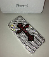 Crystal Custom Cross Case Cover For IPHONE 5 or 5s  Made With SWAROVSKI Elements