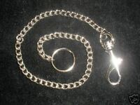 NEW BELT KEY WALLET SILVER COLOURED CHAIN & KEYRING 15.5inch 40cms GOTH PUNK 395