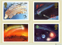 1986 Halley's Comet PHQ 90 - PHQ Cards - Mint Set of Royal Mail Post Cards