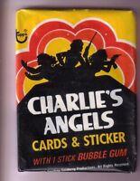 1977 Charlie's Angels Series 1 Wax Pack Fr Original Box