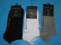 2 Pair Tommy Hilfiger Trainer Liners Ankle Socks  size 9 - 11