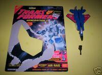 Vintage G2 Transformers Aerialbots Air Raid Lot with Gun and Cardback