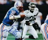 Signed 8x10 MIKE ROZIER HOUSTON OILERS Autographed photo - w/COA