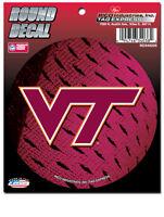 "3.5"" NCAA Virginia Tech Hokies Round Decal Car Window Sticker College Dorm Decor"