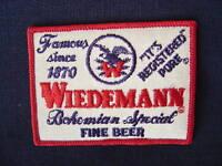 WIEDEMANN BEER SEW ON PATCH NEWPORT KY ORIGINAL VINTAGE NEW OLD STOCK