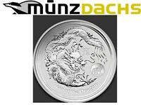 10 x $1 Lunar II 1 oz Silver Year Dragon Perth Australia 2012 Privy Mark Lion