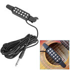 12 Hole Sound Pickup Microphone Wire Amplifier Speaker for Acoustic Guitar Black