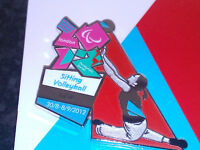 LONDON 2012 OLYMPICS PARALYMPICS (SITTING VOLLEYBALL) SPORTS POSE  PIN BADGE