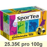 Goldmännchen Thé Sportea, Mangue / Orange, Fitness, Frais, 20 Sachets Emb. Ind.