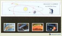 1986 Halley's Comet Stamp Presentation Pack PP145 (printed no. 168) - Royal Mail
