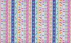 tissu patchwork mignonnes petites rayures colorées 45x55cm