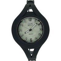 Eton Ladies Mother Of Pearl Stone Set Dial Grey Metal Bangle Style Watch 3054L