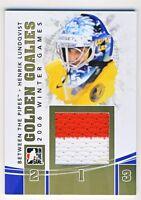 Henrik Lundqvist 2010-11 ITG BTP Golden Goalies Jersey Gold Card /10