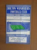 BOLTON WANDERERS V EVERTON 1963-64
