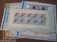 BUND 2001: 3 VERSCHIEDENE ZEHNERBOGEN / KLEINBOGEN ESST