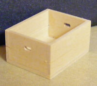 1:12 Scale Large Wood Tray Box Crate Dolls House Miniature Shop Accessory SAL
