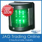 12V 9-LED STARBOARD LIGHT - Green Navigation/Nav Side Vertical Mount- Boat/Yacht