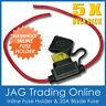 5 x WATERPROOF INLINE FUSE HOLDERS & 20A 20 AMP BLADES - Boat/Caravan/Electrical