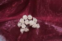 Rose Diorröschen  Satinrosen Dekoration Tischdeko Hochzeit  dunkel creme 144