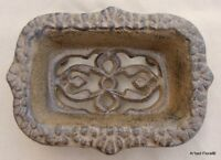 Cast Iron Scroll Soap Dish Or Business Card Holder