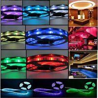 3528 5050 SMD 150leds 300leds 600leds 5M Rope Flexible Strip Lights Lamp 12V DC