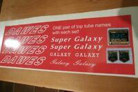DAWES GALAXY/SUPER GALAXY  decals. Complete set incl 531 - fantastic!