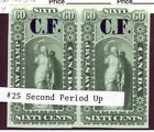Ontario Law Stamp 60c Plate Proof Pair Variety Revenue