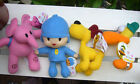 New 4Pcs POCOYO BANDAI PLUSH SOFT FIGURE Toy Pocoyo,Pato,ELLY,Loula Lovely Gift