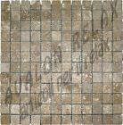 TO27342 MM 23 X 23 X 10 NUOVO MOSAICO PIETRA TRAVERTINO COLORE MIX MARRONE