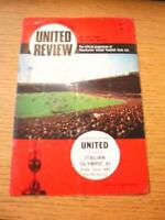 15/08/1967 Manchester United v Italian Olympic XI [Friendly] (Folded, Token Remo