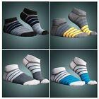 Men's Mens Fashion Low Cut Ankle Cotton Sport socks Stripe Colorful White Black