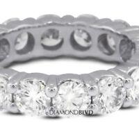 1.71 Carat Total D/VVS1/V.Good Cut Round Diamonds 14KW Classic Eternity Ring 3gr
