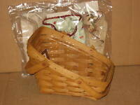 Longaberger Small Vegetable Combo Warm Brown Flax & Fall & Holiday Liners MINT!