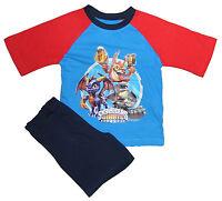 BRAND NEW - Boys Skylanders Giants short Shorty pyjamas - RED/BLUE BLUE COLLAR