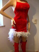 Nikolauskleid mit Nikolausmütze Weihnachtsfrau kleid Santa Kleid
