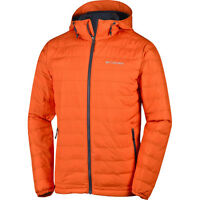 Columbia Powder Lite Hooded Mens Jacket Synthetic Fill - Tangy Orange All Sizes