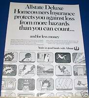 1968 Allstate Deluxe Homeowners Ins Ad