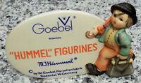 "original Hummel Figur Hum 187A ""Wanderbub Händleraufstellschild"" FM 5"