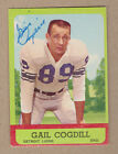 Gail Cogdill signed 1963 Topps card# 28(DEC)-Detroit Lions