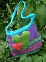gefilzte Handtasche@DIRNDL;Bag,Trachten-Landhaus Tasche UNIKAT! HIP-wundervoll