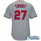 Majestic Mike Trout Los Angeles Angels of Anaheim Gray Cool Base Player Jersey