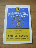 04/03/1967 Mansfield Town v Bristol Rovers  . No obvious faults, unless descript