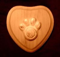 plastic dog cat pawprint soap plaster candy mold mould