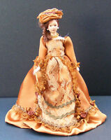 1:12 Victorian Lady In A Brown Dress Dolls House Miniature Doll Accessory A