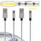 FOR Apple iPhone MFI Certified Lightning Braided Sync Charge USB Cable Cord