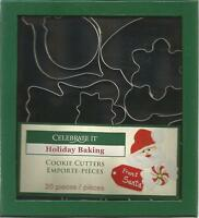Celebrate It Baking COOKIE CUTTERS 20 Pc.; Christmas