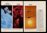1966 Boeing 733 SST & Lockheed Supersonic plane General Electric engine ad