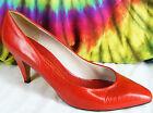 5.5 M vintage 80's lipstick red leather EVAN PICONE heels pumps shoes