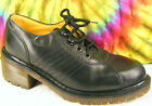 US size 6 ladies vintage 90's black leather DR MARTENS oxfords shoes UK 4