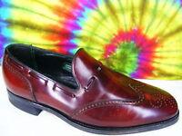 8.5 D mens vtg leather FLORSHEIM wing-tip loafers shoes